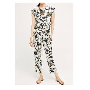 Anthropologie Aida Embroidered Jumpsuit By Ranna G